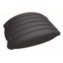 Achsabdeckung 19 cm - schwarz/Mudguard center RA 19 cm - black