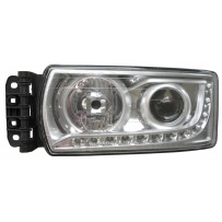Hauptscheinwerfer H7 mit LED Tagfahrlicht, ohne Leuchtmittel, links / head lamp H7 with LED day light no light bulb, LH