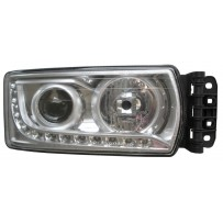 Hauptscheinwerfer H7 mit LED Tagfahrlicht, ohne Leuchtmittel, rechts/ head lamp with LED day light, no light bulb, RH