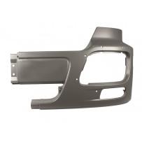 Stoßfängerhälfte ohne Lufteinlass mit Nebelscheinwerfer links grau/Side bumper with foglamp hole LH grey