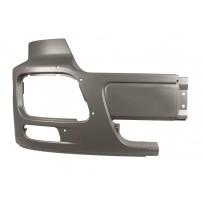 Stoßfängerhälfte ohne Lufteinlass mit Nebelscheinwerfer rechts grau/Side bumper with foglamp hole RH - grey
