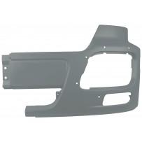 Stoßfängerhälfte mit Nebelscheinwerfer, Stahl, links, grau/Side bumper iron with foglamp hole LH, grey