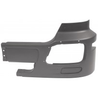 Stoßfängerecke Stahl ohne Nebelscheinwerfer schwarz links/Side Bumper iron no fog lamp hole black
