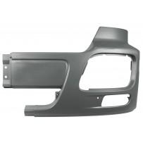 Stoßfängerhälfte mit Nebelscheinwerfer ohne Lufteinlass links grau/Side bumper with foglamp hole, no airinlet LH grey