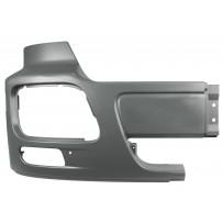 Stoßfängerhälfte mit Nebelscheinwerfer ohne Lufteinlass rechts - grau/Side bumper with foglamp hole no air inlet RH