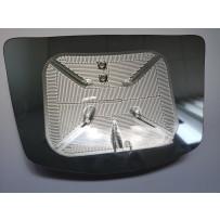 Ersatzglas Fußgängerseitenspiegel beheizt / Front view mirror replacement glass heated