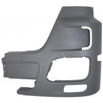 Stoßfängerhälfte mit Nebelscheinwerfer ohne Lufteinlass links grau/Side bumper with foglamp grey without airinlet hole LH