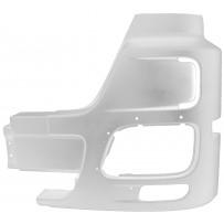 Stoßfängerhälfte mit Nebelscheinwerfer ohne Lufteinlass links weiß / Side bumper with foglamp, without airinlet hole LH, white