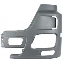 Stoßfängerecke mit Nebelscheinwerferausschnitt und Lufteinlass grau links / Front bumper corner with fog lamp cutout and air inlet hole grey LH