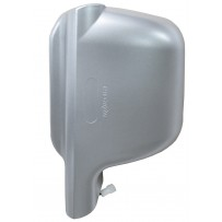 Weitwinkelspiegel komplett - Abdeckkappe silber - links/Wide angle mirror cover silver LH