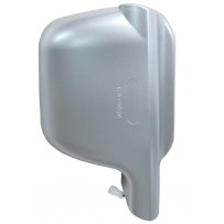 Weitwinkelspiegel komplett - Abdeckkappe silber - rechts/Wide angle mirror Cover silver RH