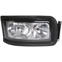 Hauptscheinwerfer mit Rahmen manuell einstellbar rechts / Headlight with rim manually adjustable RH