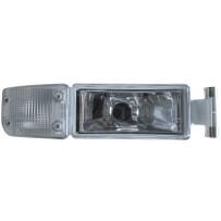 Nebelscheinwerfer mit Blinkerleuchte weiß rechts / Fog lamp with turn signal lamp white RH