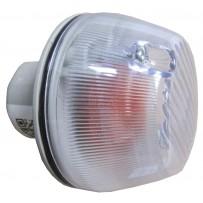 Blinkerleuchte weiß mit gelber Glühbirne / Turn signal lamp white with bulb amber