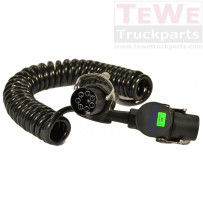 Elektrowendel, 24V, ABS ADR, 5-polig / Coiled cable, 24V, ABS ADR, 5-pin