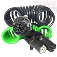 Elektrowendel Adapterkabel, 24V, 15-polig, 2x7-polig / Adapter coiled cable, 24V, 15-pin, 2x7-pin