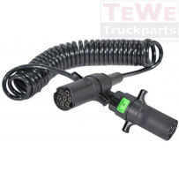 Elektrowendel, 24V, Typ S, 7-polig / Coiled cable, 24V, type S, 7-pin