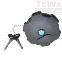 Tankverschluss mit drei Zinken sperrbar mit 2 Schlüsseln / Fuel filler cap with three-nose-closures lockable with 2 keys