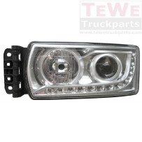 Hauptscheinwerfer H7 mit LED Tagfahrlicht ohne Leuchtmittel links / Headlight H7 with LED daytime running light no light bulb LH