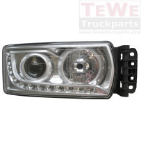 Hauptscheinwerfer H7 mit LED Tagfahrlicht ohne Leuchtmittel rechts / Headlight H7 with LED daytime running light no light bulb RH