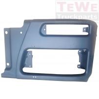 Stoßfängerecke Stahl dunkelgrau links / Front bumper corner steel grey LH