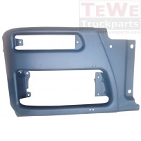 Stoßfängerecke Stahl dunkelgrau rechts / Front bumper corner steel grey RH