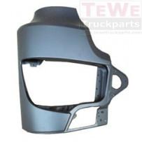 Scheinwerferabdeckung ohne Nebelscheinwerferausschnitt Stahl rechts / Headlight cover no fog lamp hole steel RH