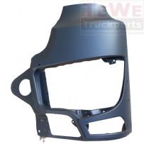Scheinwerferabdeckung mit Nebelscheinwerferausschnitt Stahl links / Headlight cover with fog lamp cutout steel LH