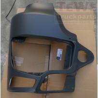 Scheinwerferabdeckung mit Nebelscheinwerferausschnitt Stahl rechts / Headlight cover with fog lamp cutout steel RH