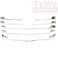 Zierleistensatz Chrom für Frontgrill 13-teilig / Chrome trim set for front grill 13 pieces