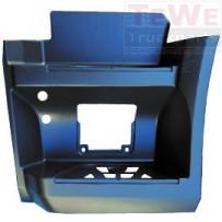 Einstieg ohne Aussparung Trittstufenleuchte grundiert unten links / Footstep no cutout step lamp primed lower LH