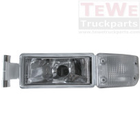 Nebelscheinwerfer mit Blinkerleuchte weiß links / Fog lamp with turn signal lamp white LH